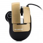 Rajoo JinGangShenZhi USB 2.0 Optical 600 / 1200 / 1600 / 2400dpi Game Mouse - Black + Dark Goldenrod