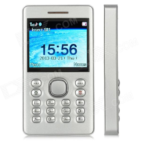 "SocBlue A850 1.77"" Color Bluetooth Single SIM Single Standby Adapter Cell Phone for Iphone - Silver"