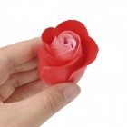 Romantic Heart Shaped 19-Soap Rose Flowers w/ Bear Doll - Red + Pink + Beige