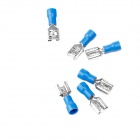 Copper + Hard Plastic Speaker Positive Terminal Cable Connection Plugs Set - Blue + Silver (100 PCS)