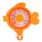 T162 Cute Cartoon Fish Shape Aquarium Thermometer - Orangered (0'C~30'C)