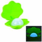 Creative Shell Shape 1W 2-LED White Light Night Lamp - Green