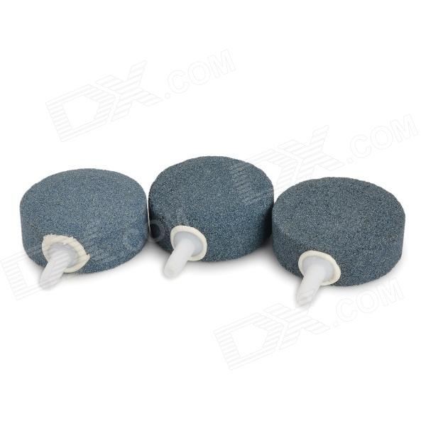 YK-040 Pump Decor Air Bubble Disk Stones for Aquarium / Fish Tank - Grey + White (3 PCS)