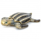 YLS571 Strass Dekoration Turtle Form Jewel Case - Brown + Coppery