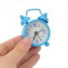 Mini Iron Paint Coating Clock Alarm - Blue (1 x AG12)