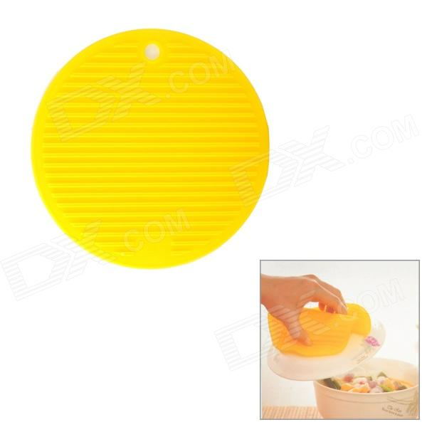 Round Shaped Silicone Heat Resistant Pad Mat - Yellow