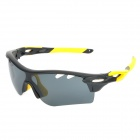 OREKA WG565 Sport Cycling UV400 Protection Polarized Goggles Sunglasses - Black + Yellow