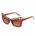 SENLAN 6149 Retro Cat's Eye Style Lady's UV400 Protection Sunglasses - Red