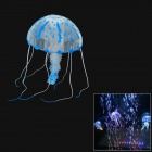 02 Aquarium Lifelike Glowing Effect Jellyfish w/ Suction Cup - Blue + Translucent