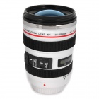 B6B Unique Simulation Dummy Canon EF 24-105mm Lens Thermos Cup Mug w/ Carrying Bag - White (350ml)