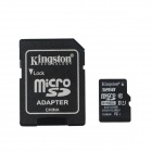 Kingston TF32G/C10 Micro SDHC / TF Card w/ SD Card Adapter - Black + Silver (32GB / Class 10)