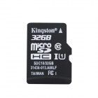 Kingston TF32G/C10 Micro SDHC / TF-Karte w / SD-Adapter - Schwarz + Silber (32GB / Class 10)