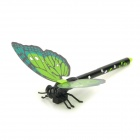 ZX0226 Korean Butterfly Style Blue Ink Ball Pen w / Magnetic Kühlschrank Hanger - Green + Black