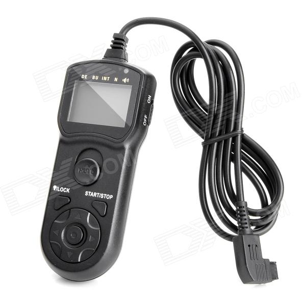 JJC TM-F LCD Timer Remote Shutter for Sony/Minolta SLR/DSLR Cameras (RM-S1AM/RM-S1LM Compatible) jjc tm b lcd timer remote shutter for nikon kodak fujifilm dslr slr cameras mc 30 mc 36 compatible