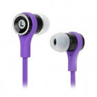 SMZ-601 Stylish Stereo In-Ear Flat Earphones - Purple + Black (3.5mm Plug / 112cm)