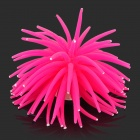 Rubber Artificial Soft Coral Decoration for Fish Tank / Aquarium - Pink