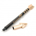 WXB-22 Stylish Cupid's Bow Shape Ballpoint Pen + Arrow Shape Neutral Pen - Black (2 PCS)