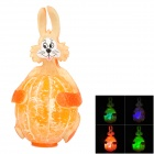 Creative Orange Rabbit Shape 30K 3-LED RGB Light Desk Lamp - Orange (3 x L1154H)