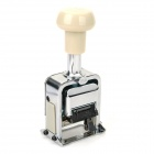 Deli 7506 6-Digital Automatic Numbering Stamp Machine - White + Silver
