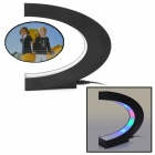 ZEA-CSS1 C Shape Electronic Magnetic Suspension Photo Frame w/ Built-in 4-LED - Black (EU Plug)