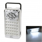 DP LED724 Rechargeable 3.2W 300lm 6000K 41-LED White Light Emergency Lamp - White (2-Round-Pin Plug)