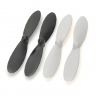 Hubsan H107-A02 Replacement Blades for X4 H107 Quadcopter - Black + White (4 PCS)