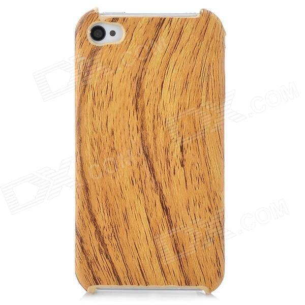 Wood Grain Pattern Protective Plastic Back Case for Iphone 4 / 4S for iphone 6 plus wood grain leather coated plastic case khaki