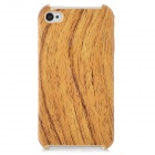 Wood Grain Pattern Protective Plastic Back Case for Iphone 4 / 4S