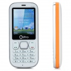 "iPro Magic 2.2"" Waterproof Rugged Dual SIM Dual Standby GSM Cell Phone w/ Micro USB - White + Orange"
