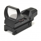 1X Magnification Red / Green Light Dot Gun Sight - Black