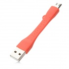 Micro USB Data Cable for Samsung - Red Orange (8cm)