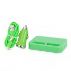 Power Socket + Apple 8Pin Lightning Cable + Car Cigarette Charger for iPhone 5 / iPad 4 - Green