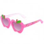 XC0133 Apple Style Frame UV400 Protection Kid's Sunglasses - Deep Pink