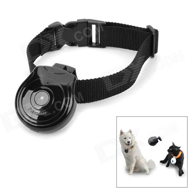 FK-702 0.8 LCD CMOS Pet Camera w/ TF Card Slot / USB - Black tt tf ths 02b hybrid style black ver convoy asia exclusive