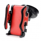 TD2167-K Universal Multifunction Car Leather Holder - Red + Black