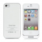 Power Pack LLZ-2100 External 2100mAh Emergency Battery Back Case for iPhone 4 / 4S - White