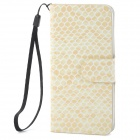 Snake Pattern Protective PU Leather Flip-Open Case w/ Strap for iPhone 5 - Khaki