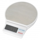 "TK TB-01 Electronic 2.0"" LED Touch Digital Scale - White + Silver (5kg / 1g / 2 x AAA)"