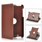 360 Degree Rotational PU Leather Stand Case for Google Nexus 7 - Deep Brown