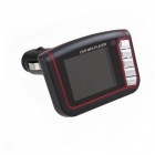 "03110006 1.8"" LCD Car FM Transmitter MP3 / MP4 Player w/ IR Remote Controller / SD Card Slot - Black"