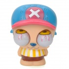 101 Funny Rolling Eyeballs Pop-out Plastic Stress Reliever Doll Toy - Blue + Pink + White + Yellow