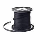 PET Braid Wire Cable Elastic Tightening Management - Black (50m)