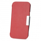 Protective PU Leather Case for Samsung i9260 - Red + Black