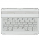 Aluminum Alloy Bluetooth v3.0 78-Key Keyboard for Samsung Tab P7500 / P7510 - Silver + White