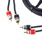 BoShi Car RCA Male to Male Audio Connection Cable - Black + Red (2m)