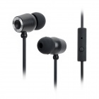 Stressless 512S 3.5mm Plug Wired In-Ear Earphones w/ Microphone for Iphone / HTC / Nokia - Black