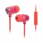 Stressless 512S 3.5mm Plug Wired In-Ear Earphones w/ Microphone for Iphone / HTC / Nokia - Red