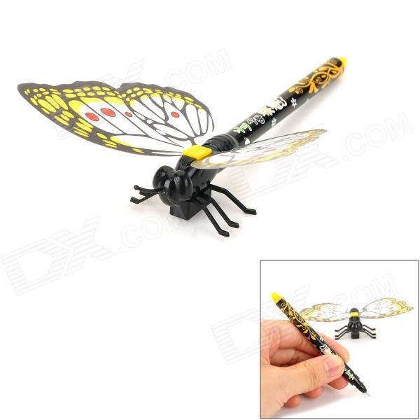 Creative Butterfly Style Gel Ink Pen w/ Magnetic Sticker - Orange