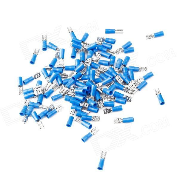 Speaker Positive Terminal Cable Connection Plugs Set - Blue + Silver (100 PCS / Size S)