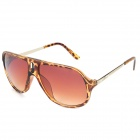 OREKA 9046 Fashionable UV400 Protection Sunglasses - Amber + Tan